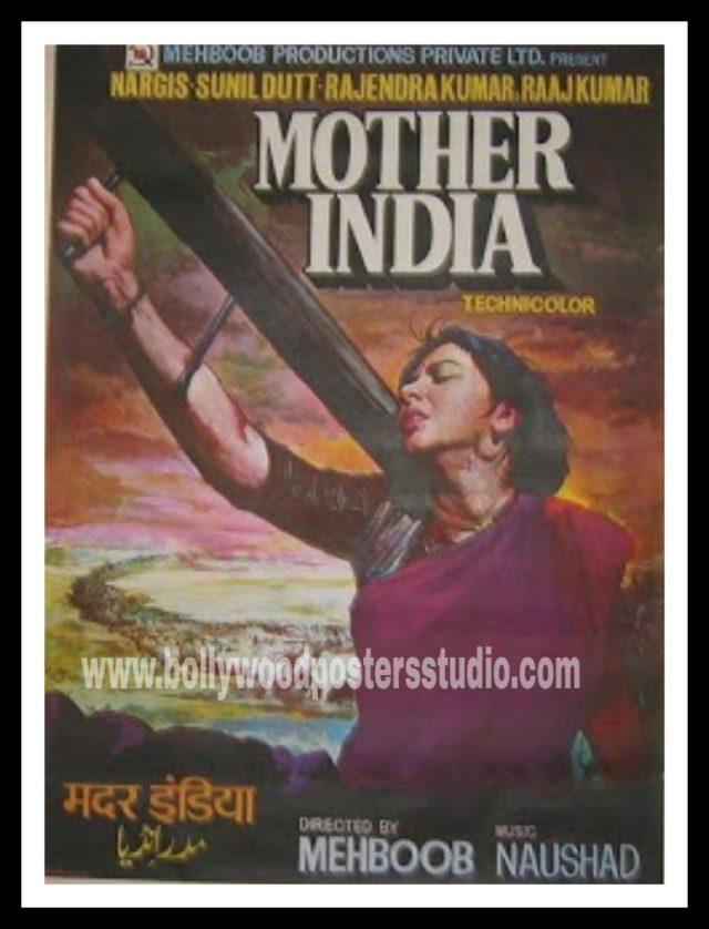 Hand painted Bollywood movie poster art Mumbai India