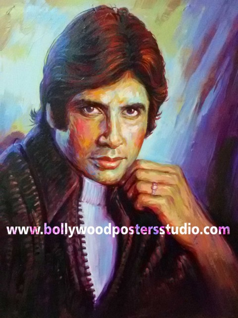 Hand painted Bollywood style portraits