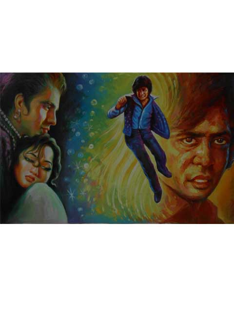 best hand painting bollywood movie poster artist in mumbai