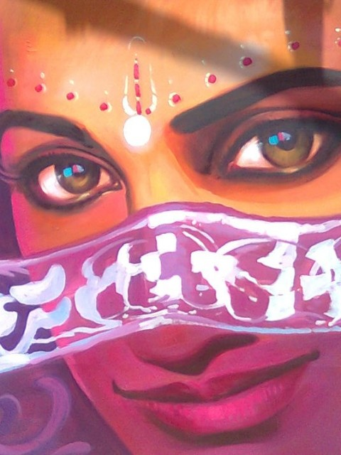 hand painting bollywood poster