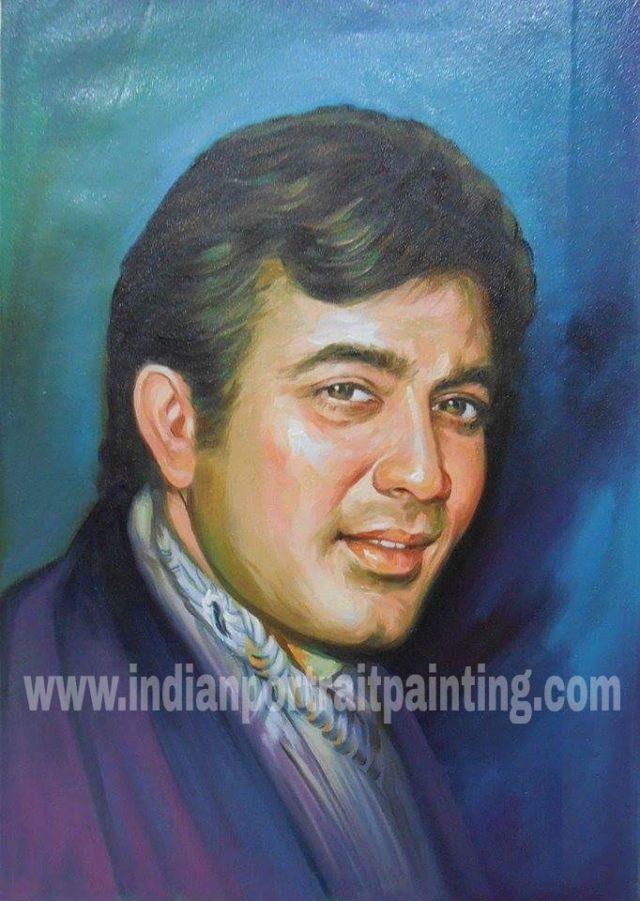 Convert photo to portrait painting India Mumbai