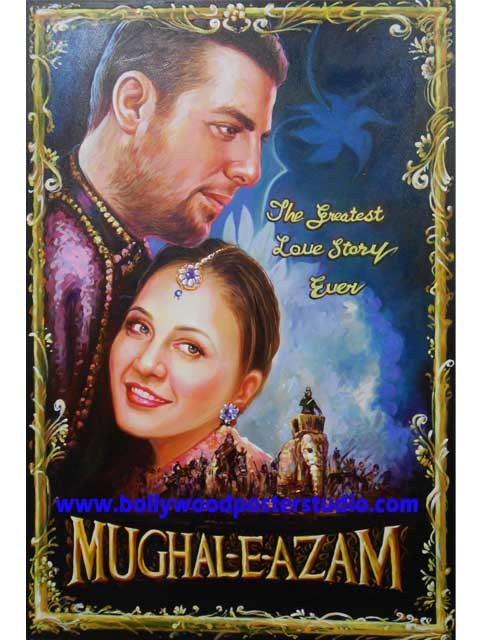 custom bollywood posters old in new style