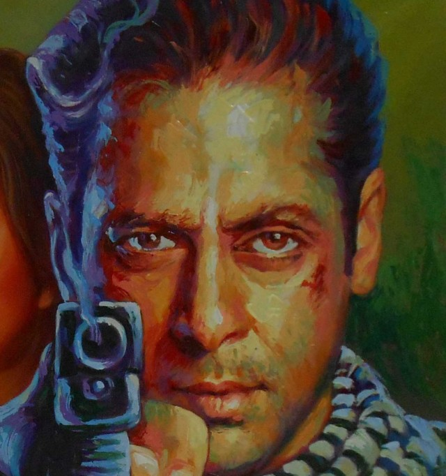 hand painted bollywood posters