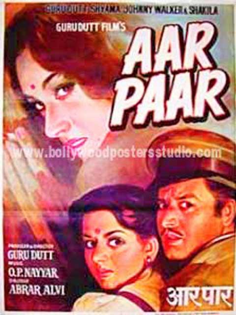 Aar paar hand painted bollywood movie posters