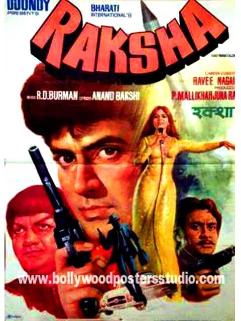 Raksha hand painted bollywood moveie posters