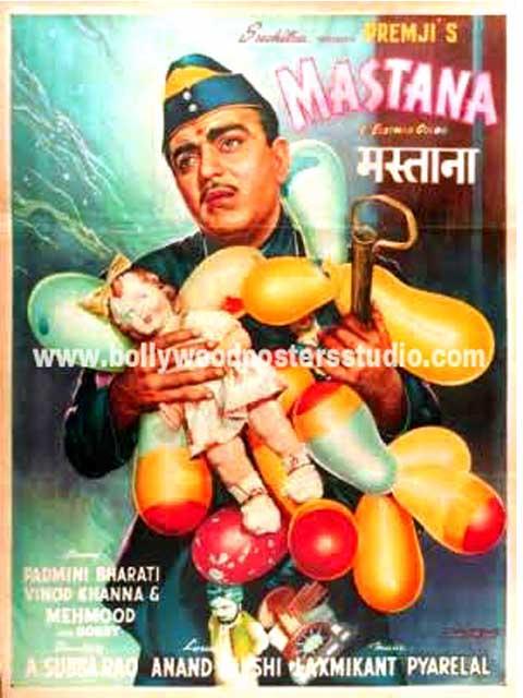 Hand painted bollywood movie posters Mastana