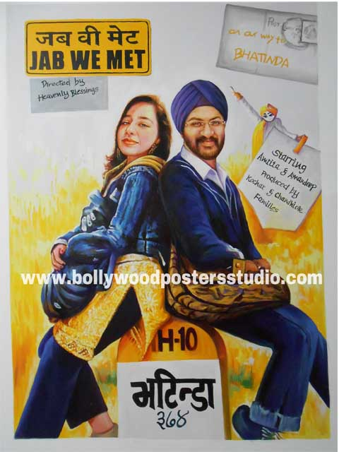 Custom bollywood posters for wedding cards themed