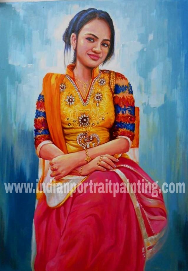 portrait paintings on canvas