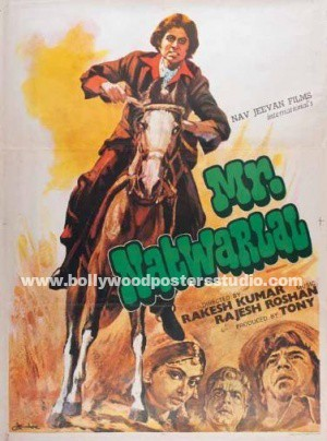 Mr. Natwarlal hand painted posters - Amitabh bachchan