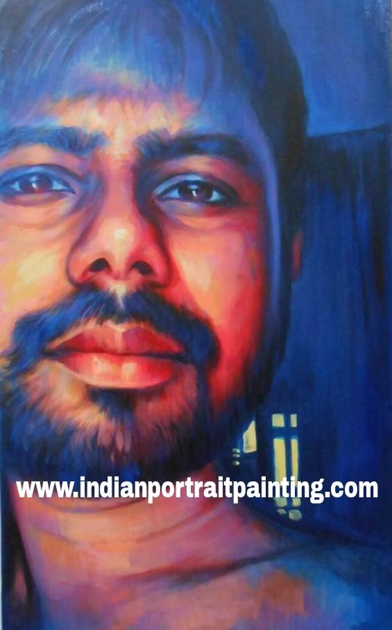 Hand painted custom portrait art gifts