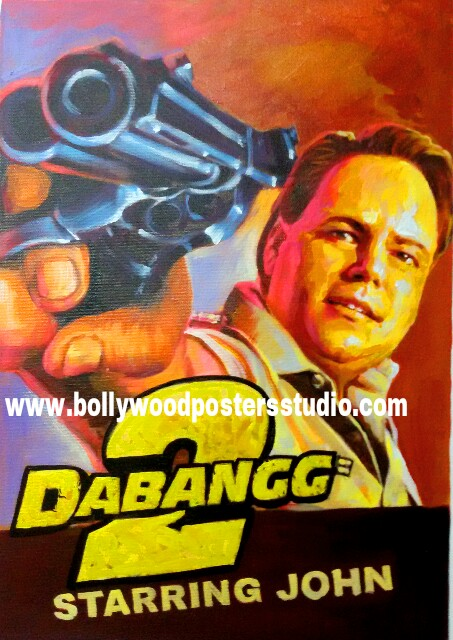 Customise bollywood style hand painted posters