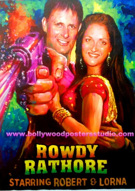 Indian customise bollywood posters for cards, gifts and decoration