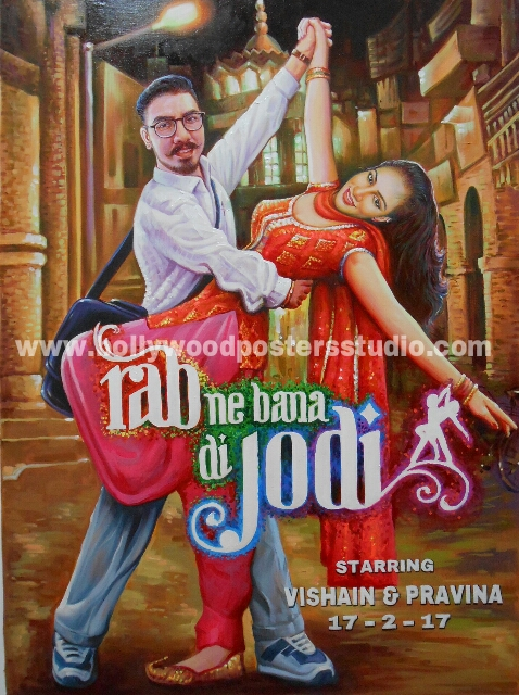 Custom Bollywood poster for wedding cards