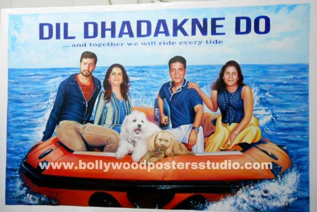 Custom Bollywood family poster