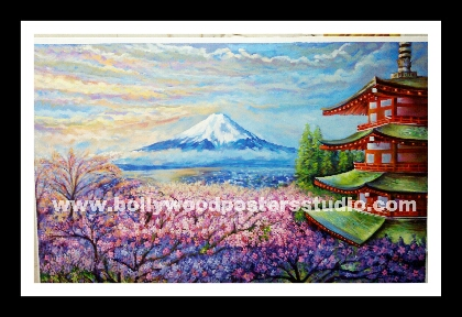 Best paintings and artist for home decor on oil canvas - Japanese cherry blossom reproduction