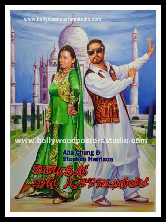 Custom Indian bollywood Hippy style posters