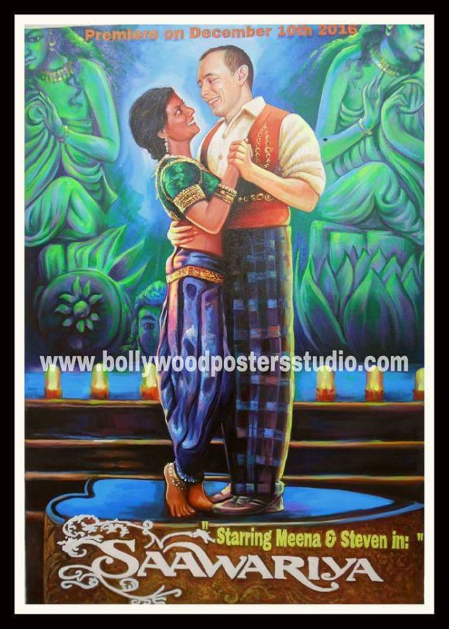 Custom bollywood posters paints on canvas