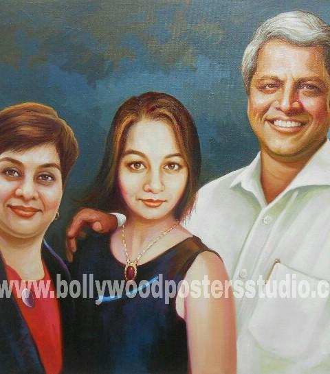 Realistic family portrait online india