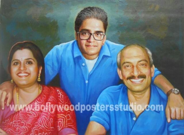 Realistic portrait paintings India mumbai