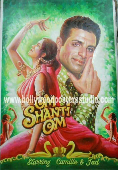 Hand painted bollywood film posters