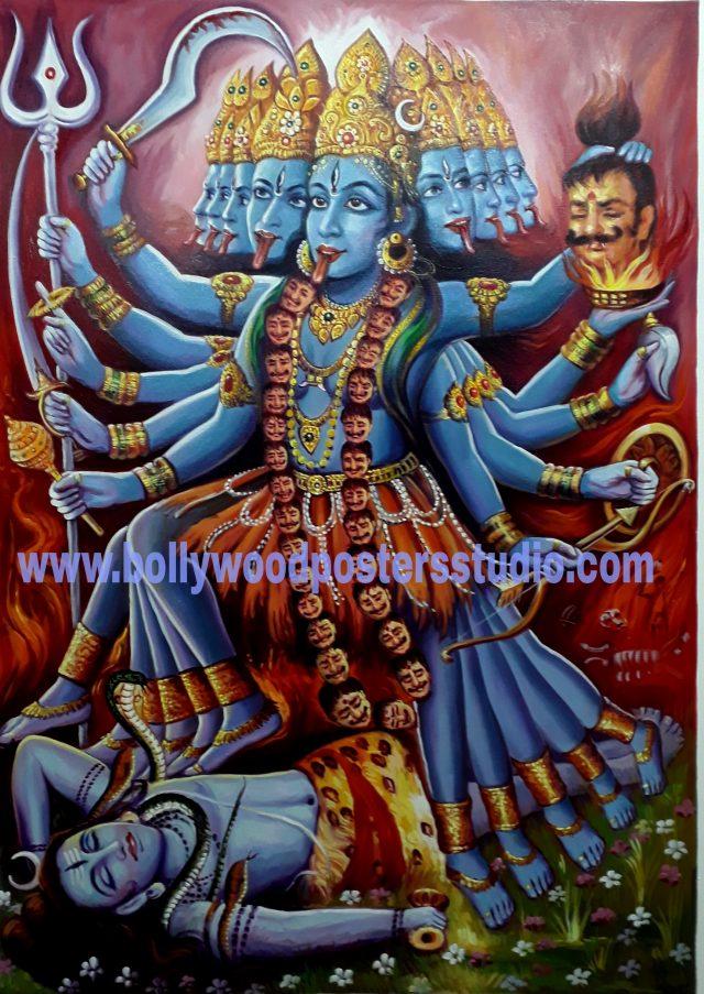 Maha kali original portrait on canvas