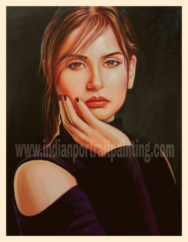 Realistic hand painted original portraits on canvas