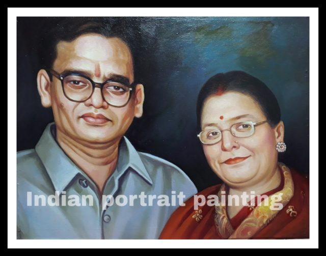 Portrait a wedding anniversary gift for parents