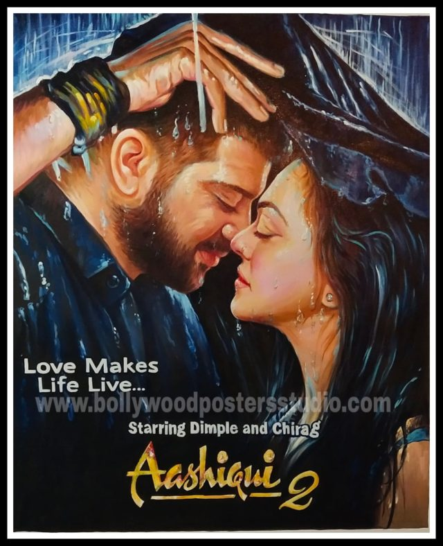Custom made selfie poster for wedding in bollywood theme