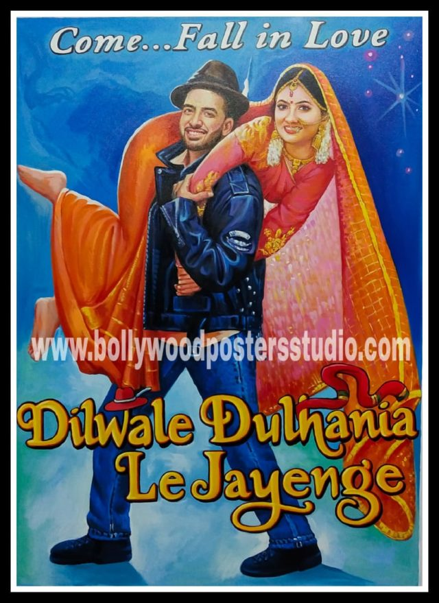 Wedding poster maker in bollywood style