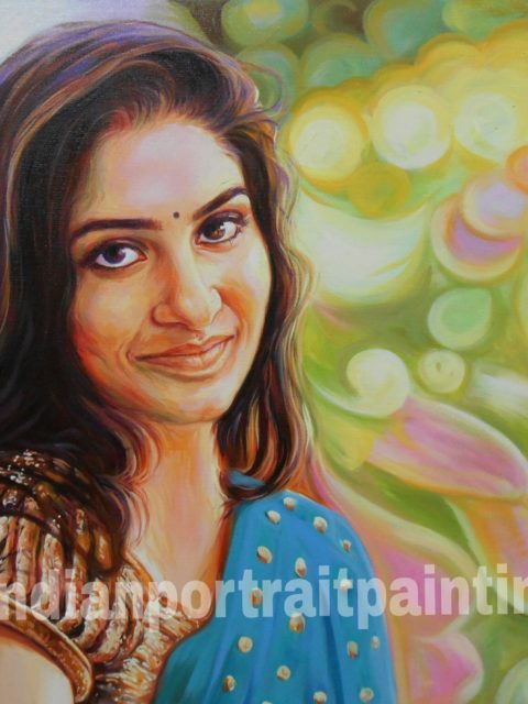 Hand painting portraits online Mumbai, India