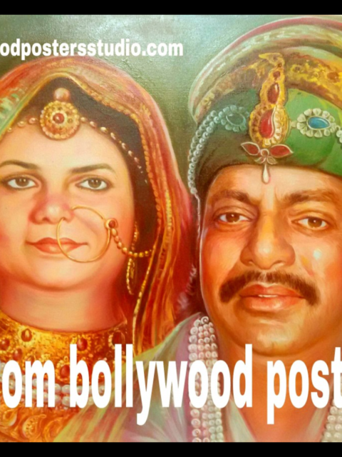 Custom online Bollywood poster or hand painted portrait - The fusion of photo and Bollywood poster