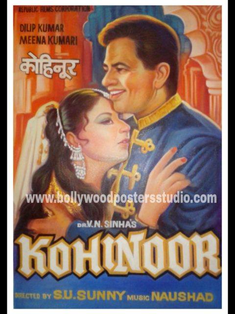 Hand painted Indian Bollywood movie poster artist Mumbai
