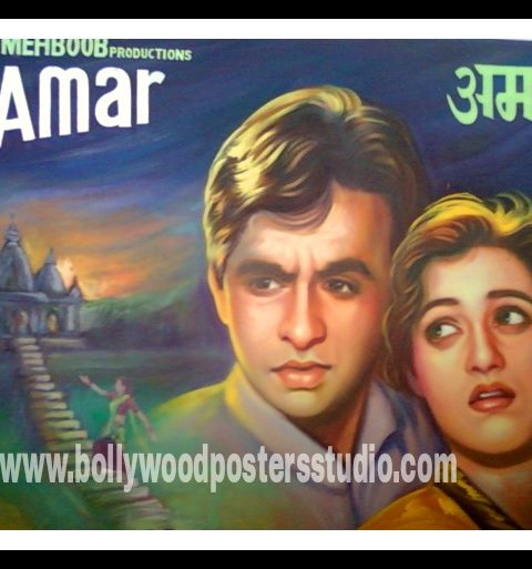 Hand painted Indian Hindi film poster