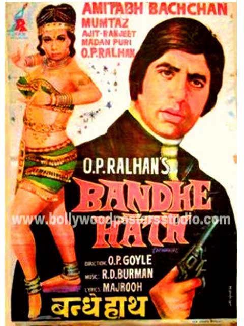Bandhe hath hand painted bollywood movie posters