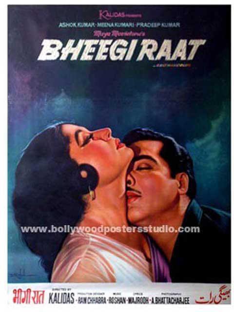 Bheegi raat hand painted posters