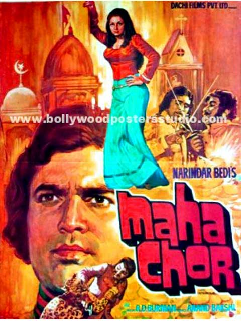 Maha chor hand painted posters