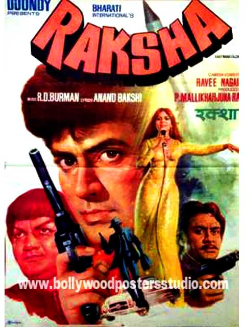 Raksha hand painted bollywood moveie posters