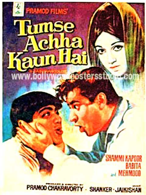 Tumse achha kaun hai hand painted bollywood movie posters
