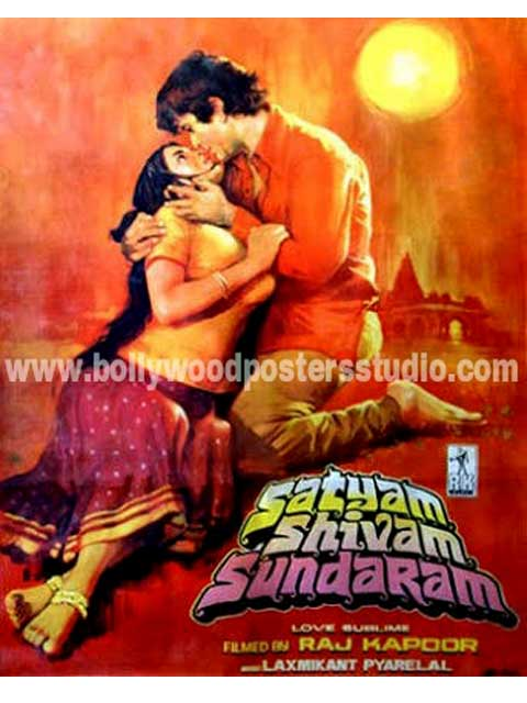 Satyam shivam sundaram hand painted posters
