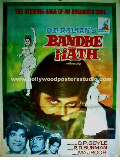 Hand painted bollywood movie posters Bandhe hath