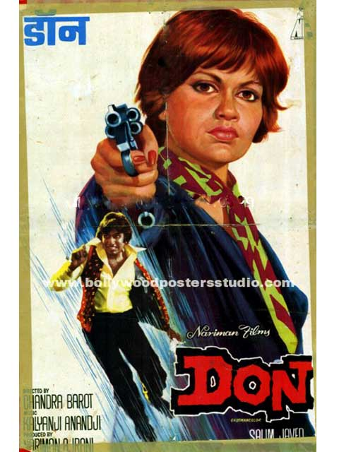 Hand painted bollywood movie posters Don - Amitabh bachchan