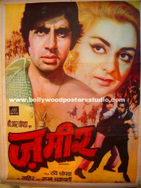 Zameer Hand painted bollywood movie poster -Amitabh bachchan