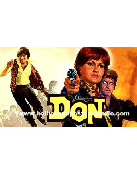Don Hand painted bollywood movie posters - Amitabh bachchan