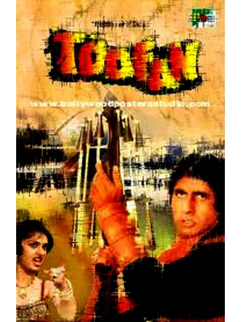 Hand painted bollywood movie posters Toofan - Amitabh bachchan