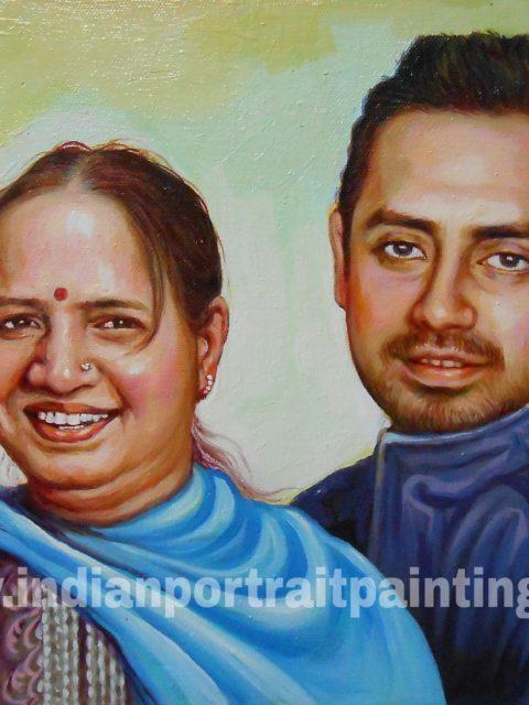 Canvas oil portrait paintings gift