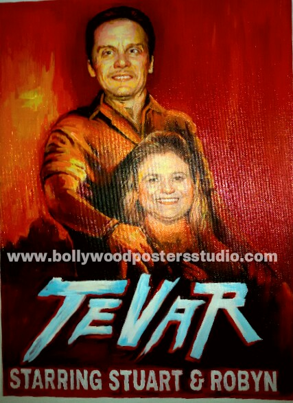 Customize unique design created in bollywood posters
