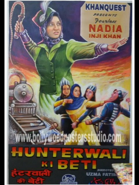 Custom Bollywood action theme poster