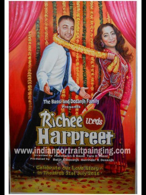 Custom bollywood posters painters