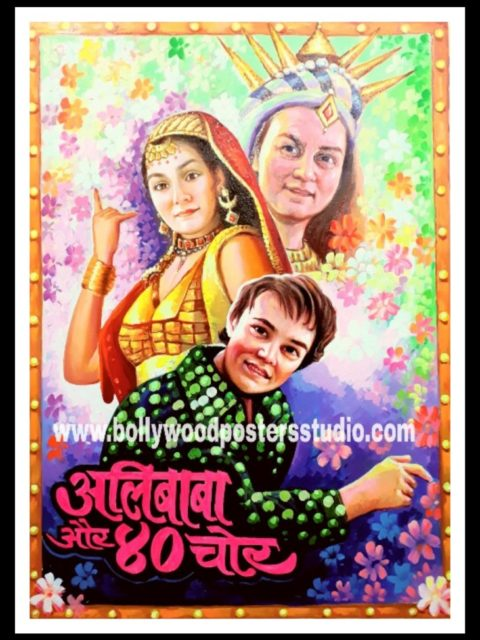 Make vintage custom bollywood poster online