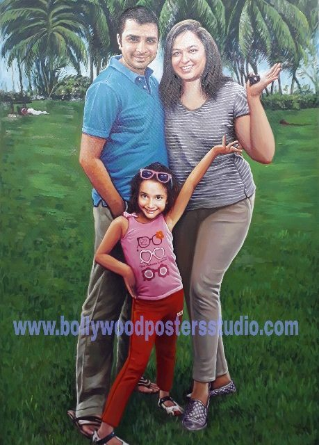 make your own family portrait on canvas from photo